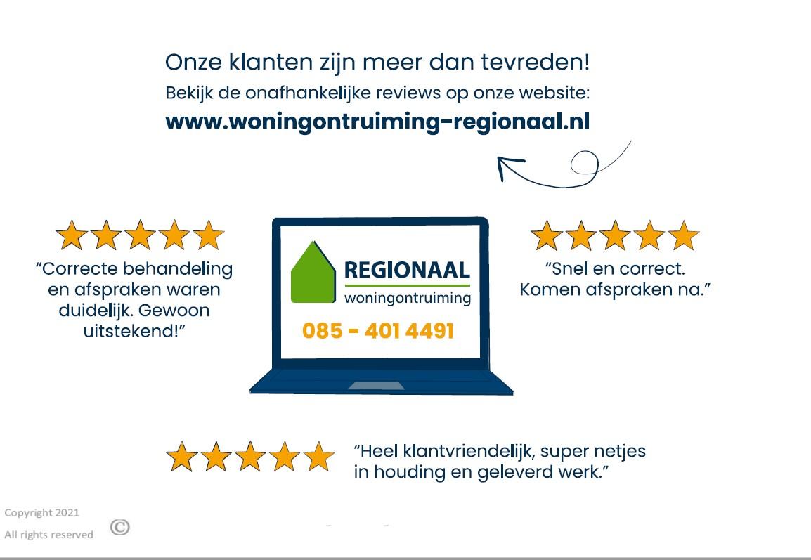 Extra schoonmaakwerkzaamheden Woningontruiming Regionaal